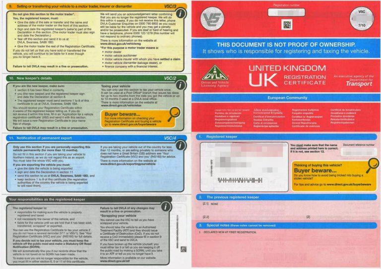 tłumaczenie dowodu rejestracyjnego angielskiego tłumaczenie przysięgłe brytyjskiego dowodu rejestracyjnego