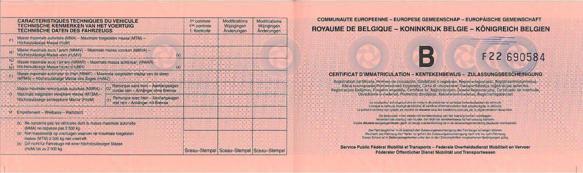 tłumaczenie przysięgłe dowodu rejestracyjnego z belgii