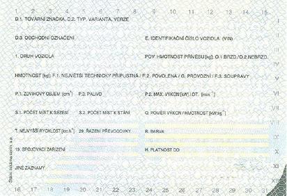 Nowy czeski dowód rejestracyjny tłumaczenie