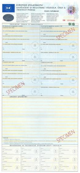 tłumaczenie czeskiego dowodu rejestracyjnego