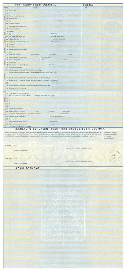 czeski dowód rejestracyjny tłumaczenie