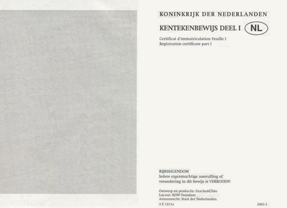 dowód rejestracyjny Niderlandy tłumacz
