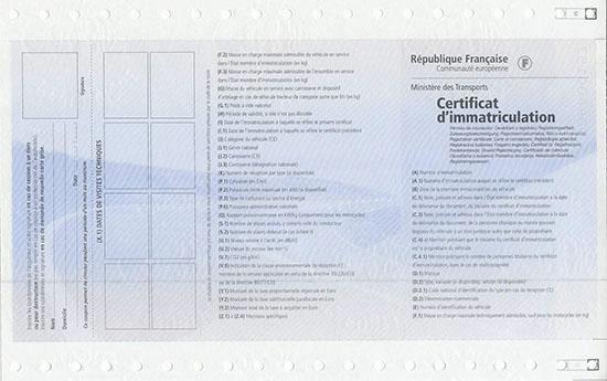 Certificat d'immatriculation tłumaczenie dowodu rejestracyjnego Francja