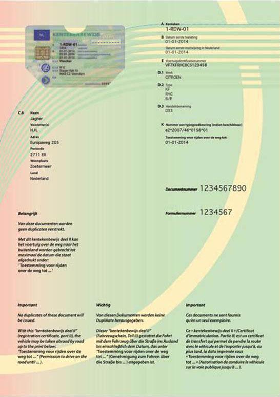 tłumaczenie dowód rejestracyjny z Holandii
