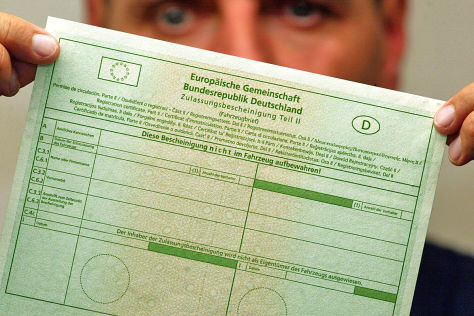 niemieckie dokumenty samochodowe