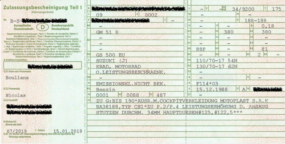 tłumaczenie niemieckiego dowodu rejestracyjnego