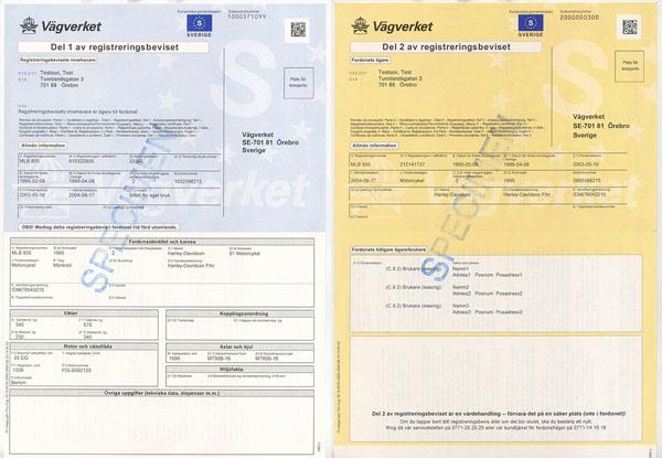 tłumaczenie szwedzkiego dowodu rejestracyjnego
