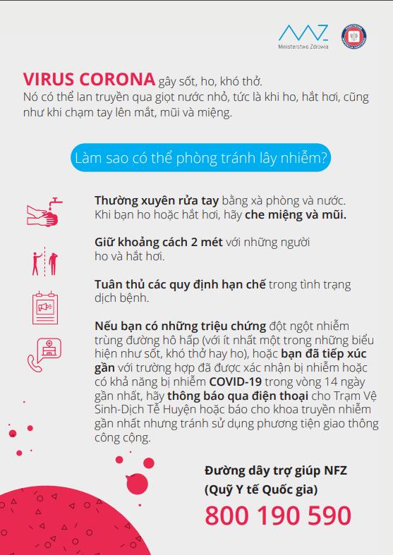 Informacje NFZ Koronawirus po wietnamsku