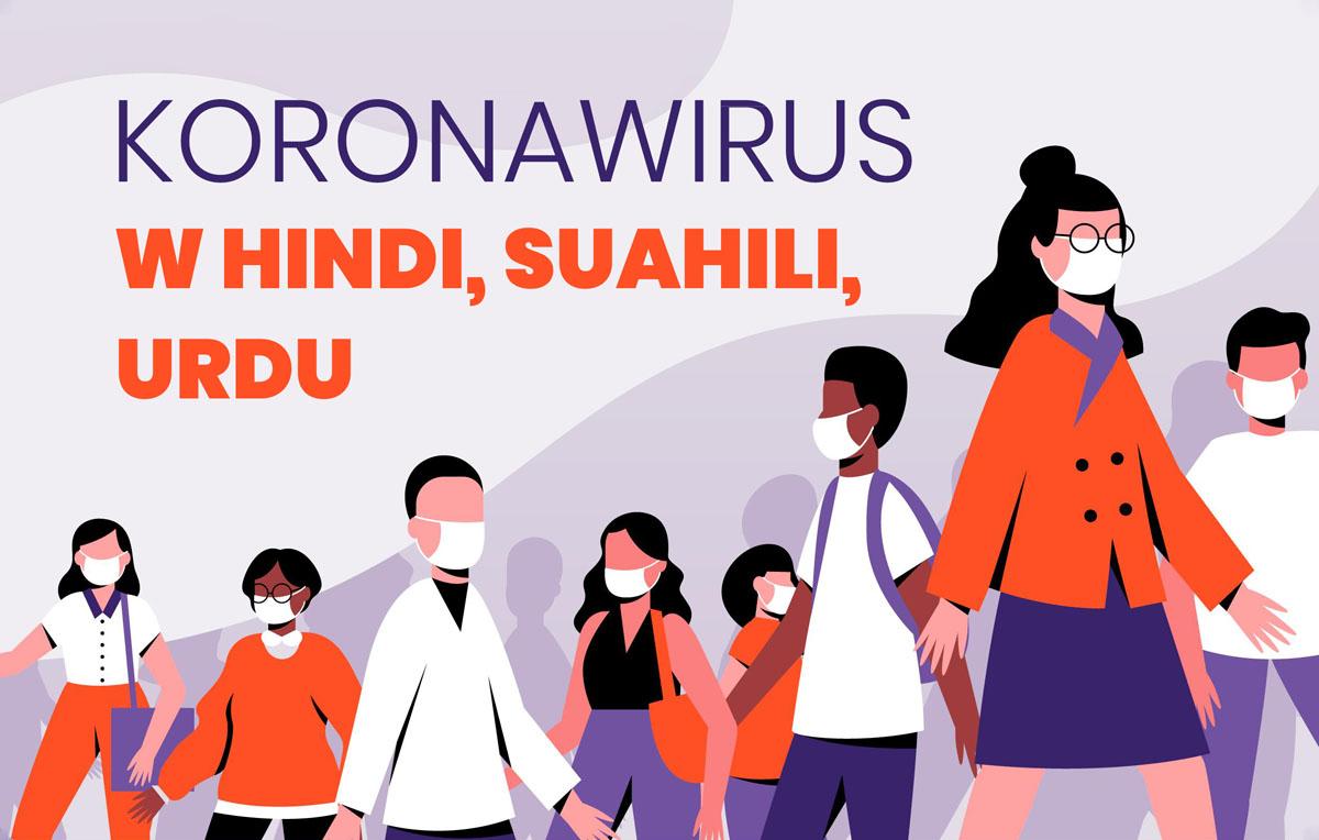 Koronawirus w hindi swahili urdu tłumaczenie