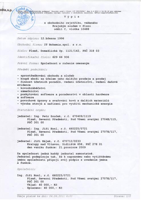 Traductor jurada de checo - traductor jurado de checo - traducciones en checo - traducciones juradass de checo - agencia de traducciones de checo - oficina de traducciones de checo