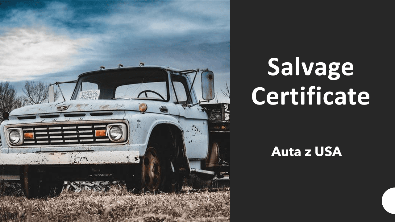 Salvage certificate - tłumaczenie na polski salvage title salvage title tłumaczenie