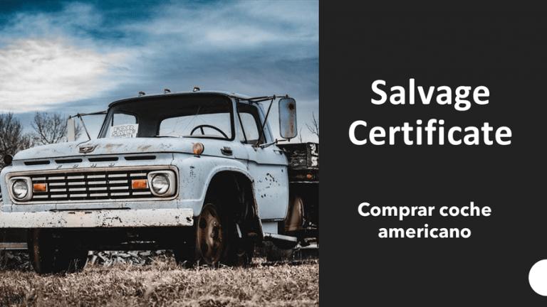 comprar coche americano salvage title salvage certificate usa cars