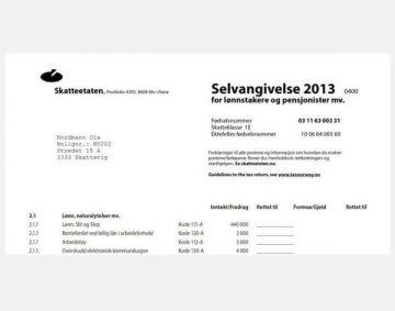 Skatteoppgjør - Rozliczenie podatku w Norwegii