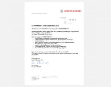 Sluttattest - norweskie świadectwo pracy
