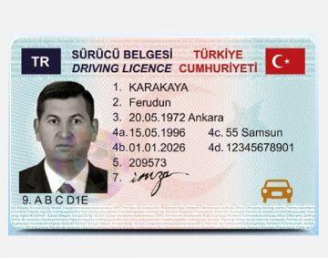 Tureckie Prawo Jazdy - (Sürücü Belgesi)